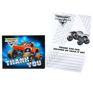 Monster Jam Thank-You Paper Disposable Note (Set of 8)