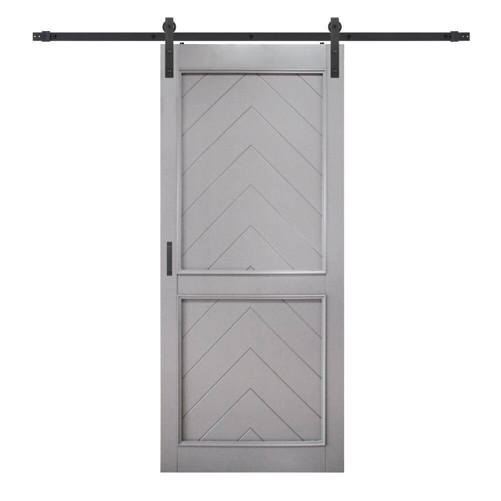Renin Paneled Manufactured Wood Gatsby Barn Door With Installation Hardware Kit Wayfair