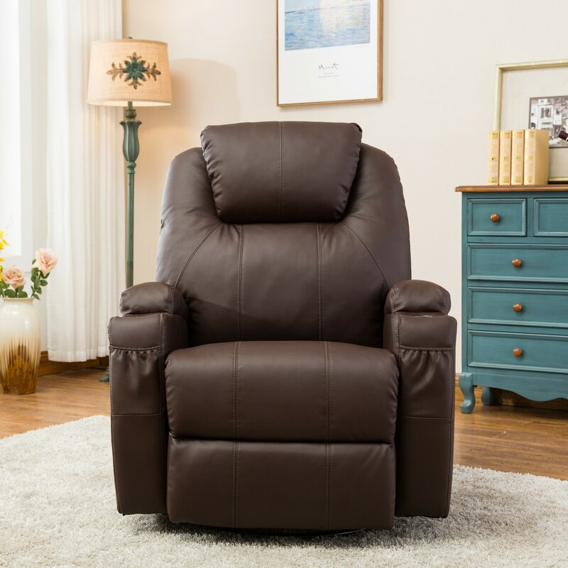 Brayden Studio® Control Reclining Full Body Massage Chair ...