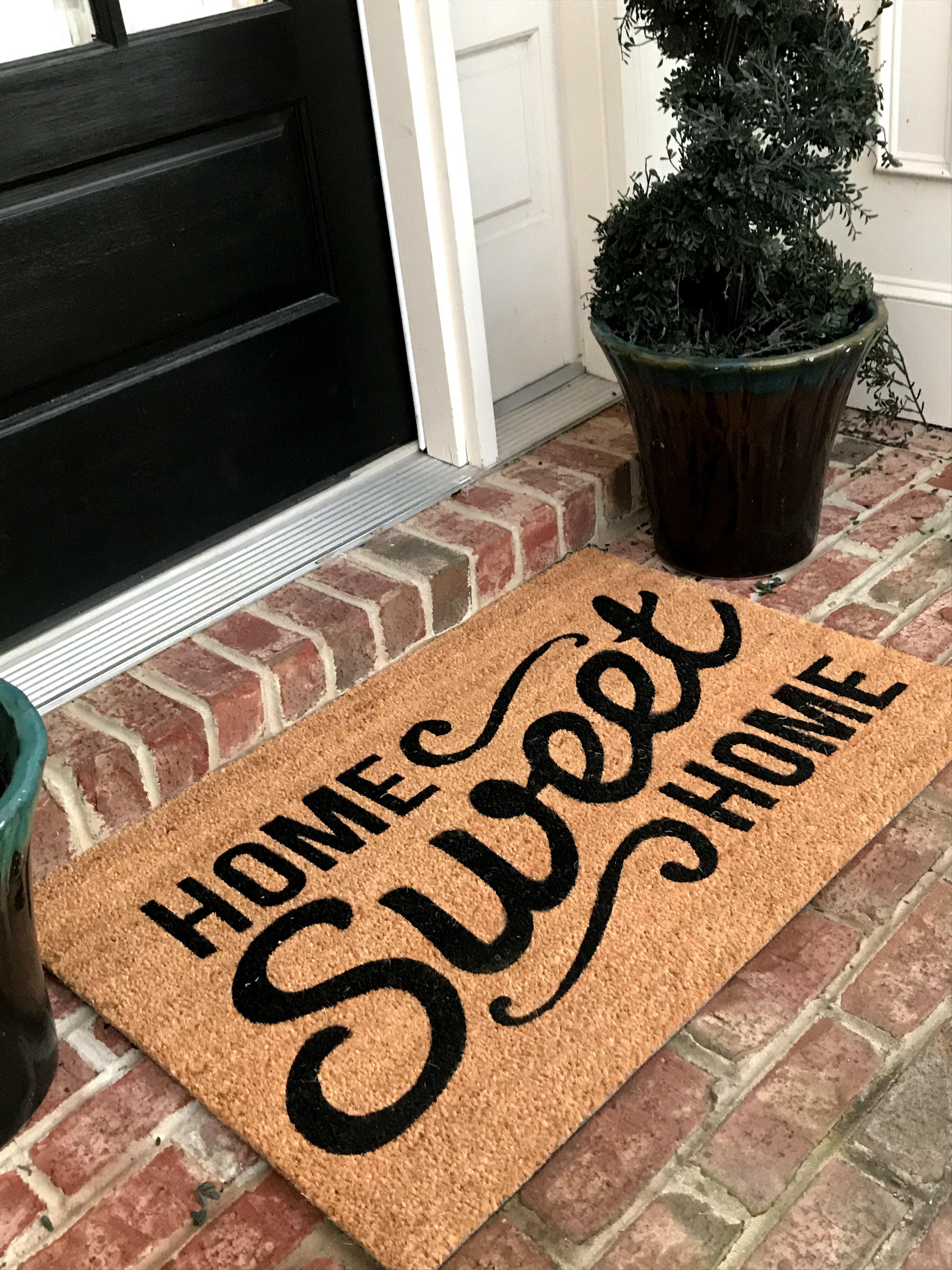 August Grove Home Sweet Home Coir Non Slip Outdoor Door Mat Reviews Wayfair