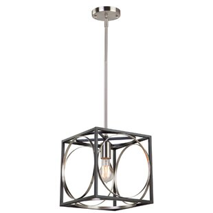 Corona 1-Light Square Pendant by Artcraft Lighting