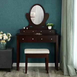 Big Save Lugenia Vanity Set with Mirror By Charlton Home