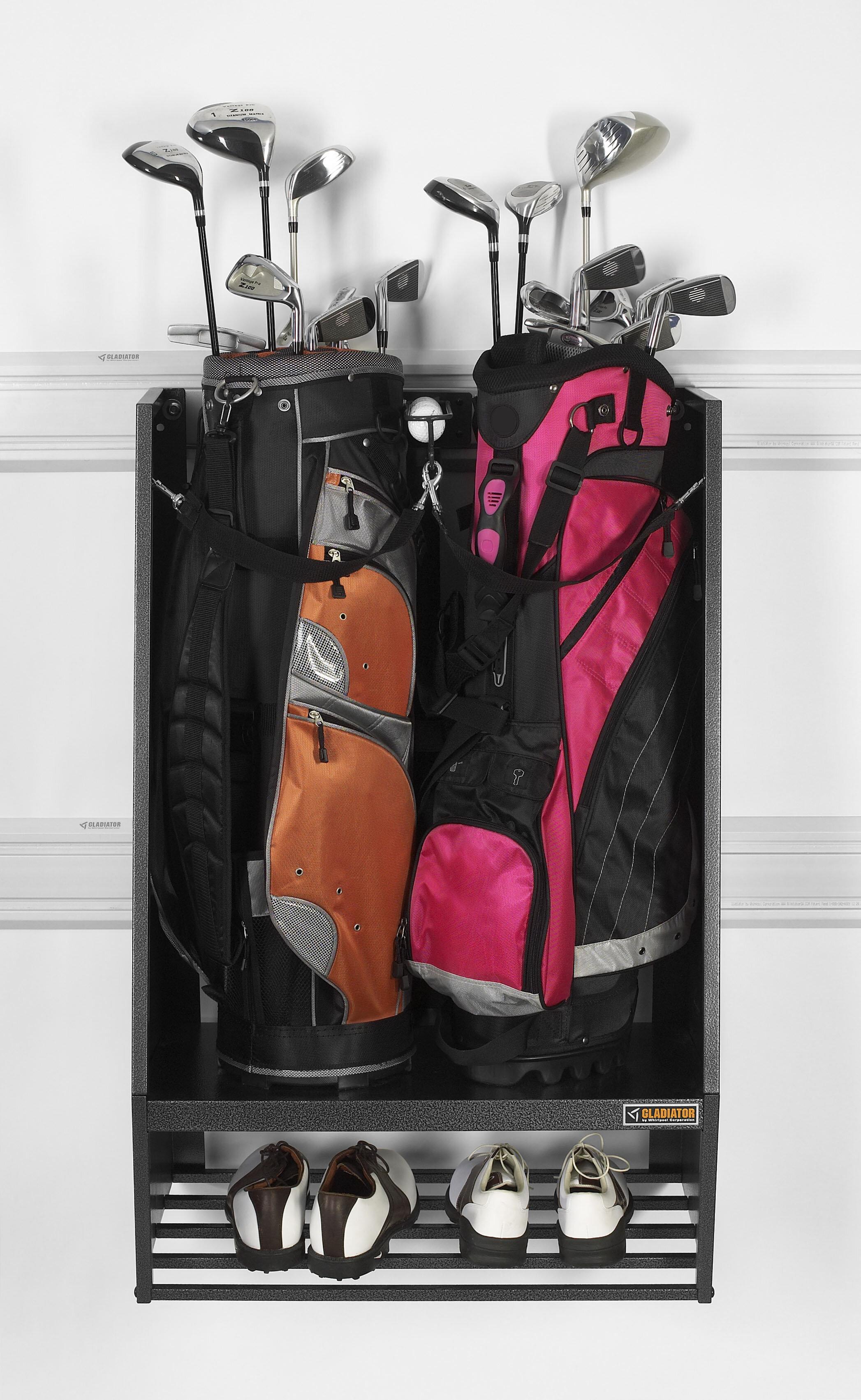 Gladiator Premier Series Golf Caddy Storage Wall Mounted