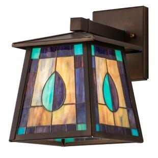 Reviews Greenbriar 1-Light Outdoor Wall Lantern By Meyda Tiffany