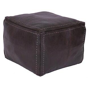 Lidiya Leather Pouf by Bun..