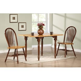 Lozano 3 Piece Drop Leaf Solid Wood Dining Set by Darby Home Co