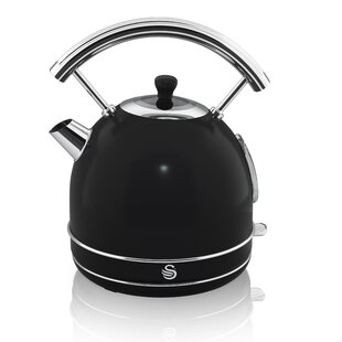 Swan 1.7 Qt. Retro Dome Stainless Steel Electric Tea Kettle