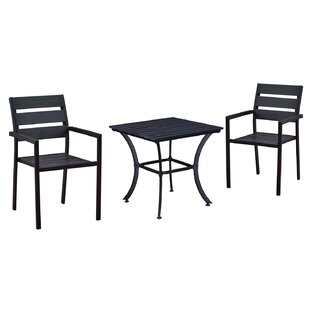 Wrought Studio Galligan Modern Contemporary 3 Piece Bistro Set