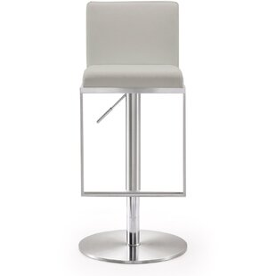 Haslam Steel Adjustable Height Swivel Bar Stool by Orren Ellis