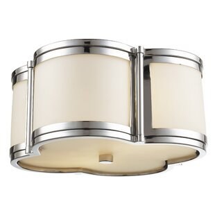 Alcott Hill Alvina 2-Light Flush Mount