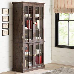 Sebastien Tall Display Cabinet & Tall Glass Door Cabinet | Wayfair