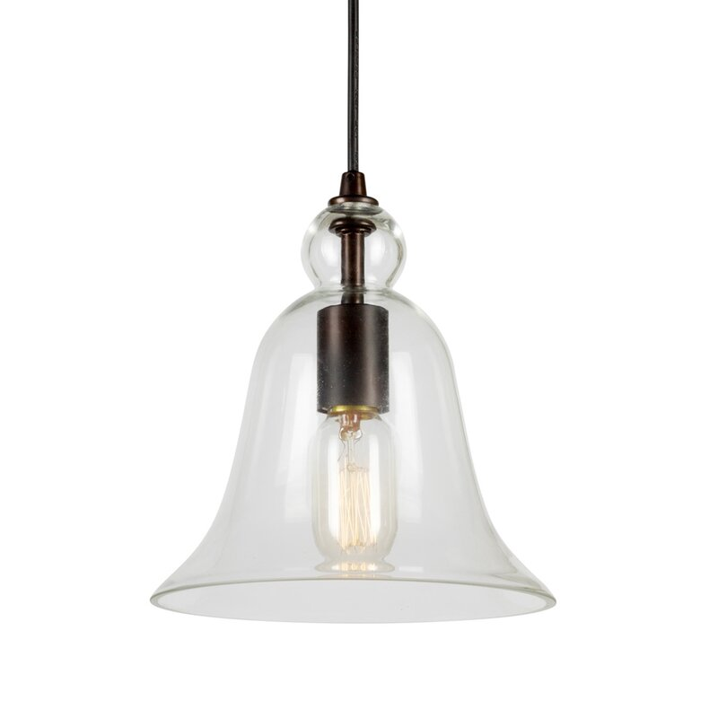 Leif 1-Light Bell Pendant