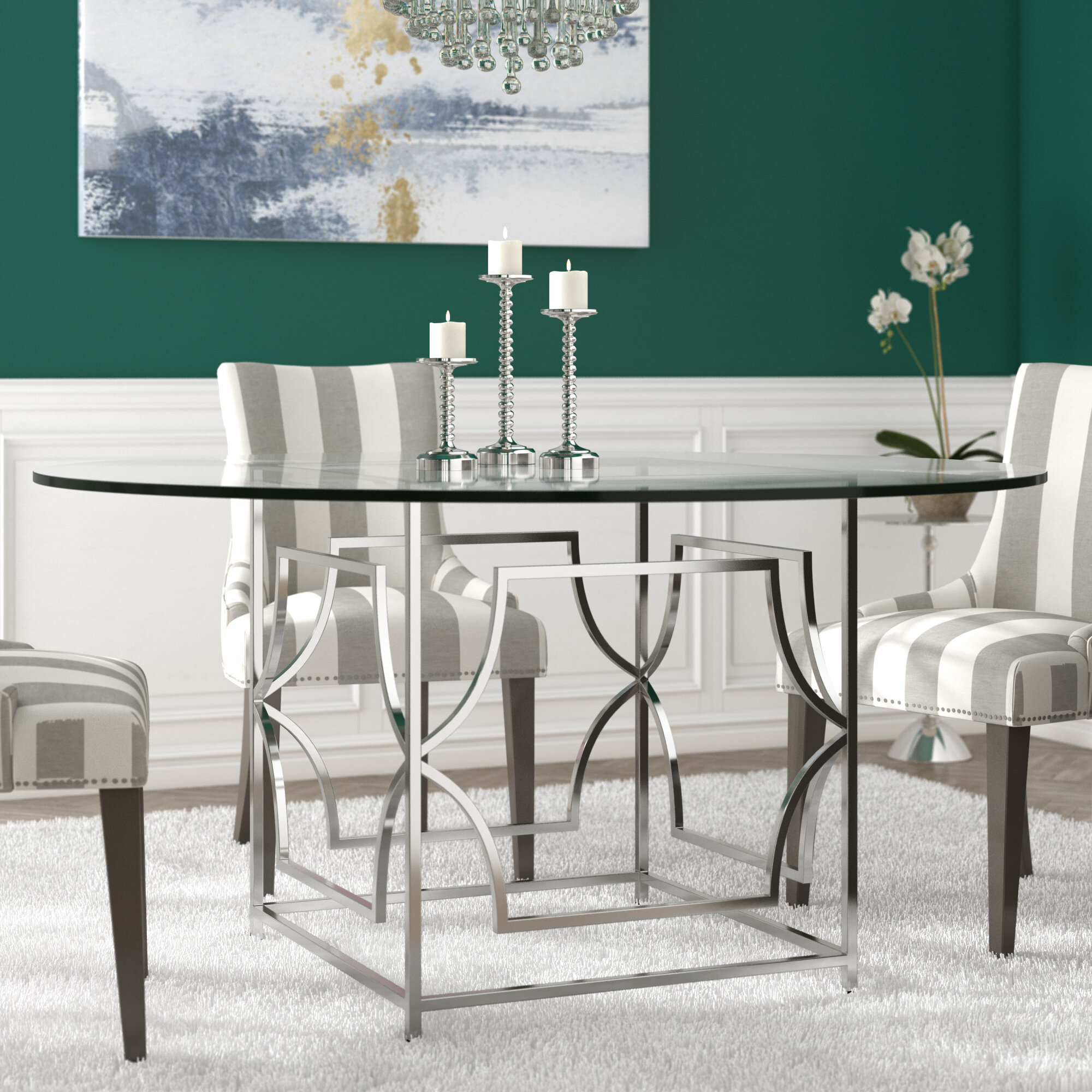 Picture of: 6 Seat Glass Kitchen Dining Tables You Ll Love In 2020 Wayfair