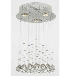 Berke 3-Light Crystal Pendant by Orren Ellis