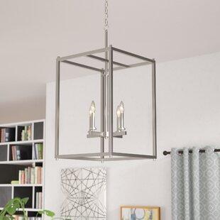Zipcode Design Chelsie 4-Light Square/Rectangle Chandelier