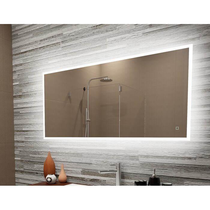 Bonanno Reflection Dimmable Led Lighted Frosted Edge Bathroom Vanity Mirror