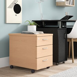 Colette 3-Drawer Mobile Lockable Filing Cabinet By Zipcode Design