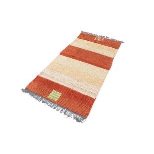 Gamelin Hand Hooked Wool Red/White Indoor/Outdoor Rug By Bloomsbury Market