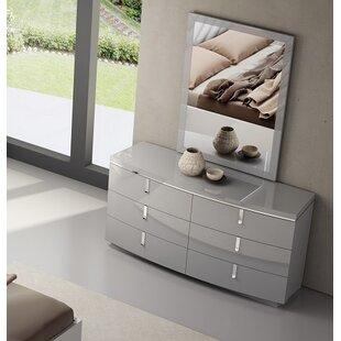Comfrey 6 Drawer Double Dresser by Mercer41