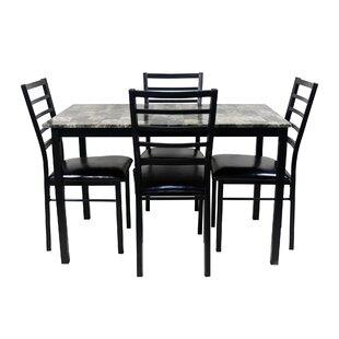 Mukai 5 Piece Dining Set by Winston Porter