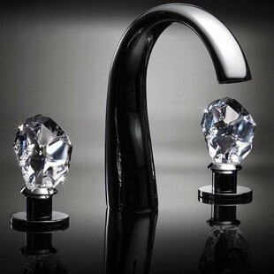 Maestro Bath Swarovski Crystal Widespread Bathroom Faucet (Set of 3)