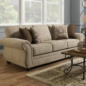 Darby Home Co Simmons Vicki Parchment Queen Sleeper Sofa