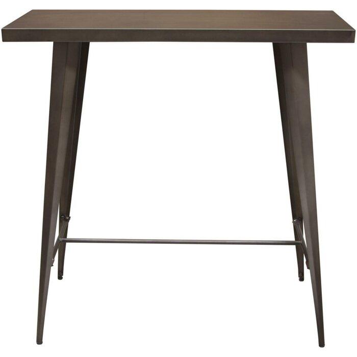 Taveras Metal Rectangular Pub Table
