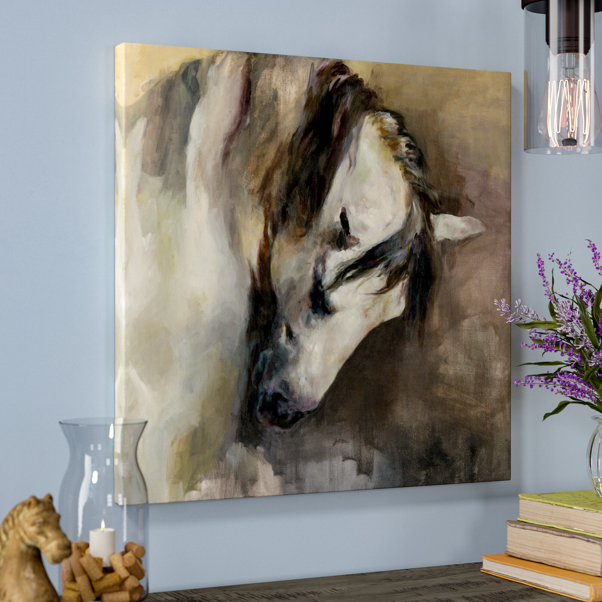 Laurel Foundry Modern Farmhouse Classical Horse Painting Print On Wrapped