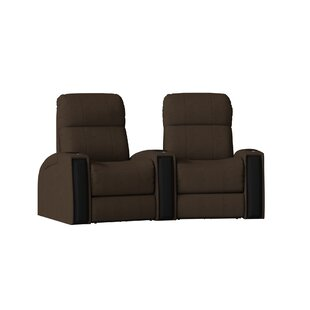 Latitude Run Contemporary Home Theater Curved Row Seating (Row of 2)