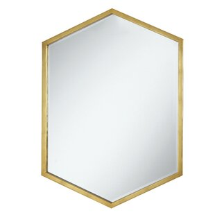 90abb32f9bd39 Cherine Hexagon Wall Mirror