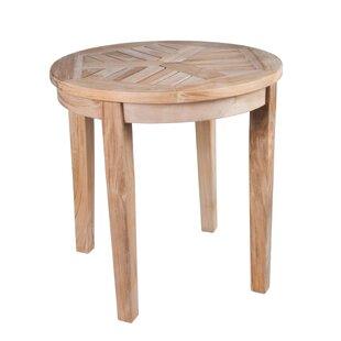 Nantucket Solid Teak Round Side Table by Arbora Teak Best #1