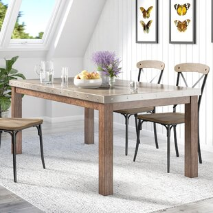 Stainless Steel Top Dining Table by Lark Manor