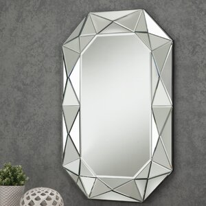 Diamond Cut Faceted Wall Mirror