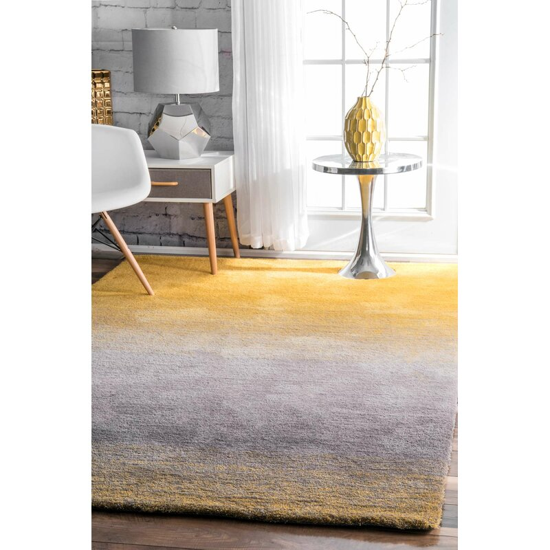Toth Hand Tufted Yellow Area Rug Reviews Joss Main