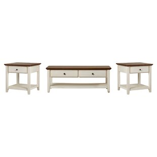 Beachcrest Home Willow 3 Piece Coffee Table Set