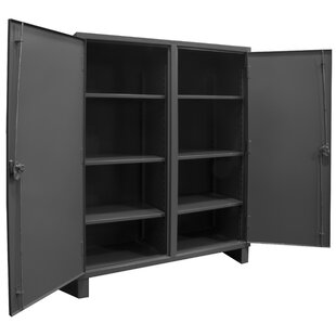 66 H x 48 W x 24 D Extra Heavy Duty Welded 12 Gauge Steel Lockable Double Shift Storage Cabinet by Durham Manufacturing
