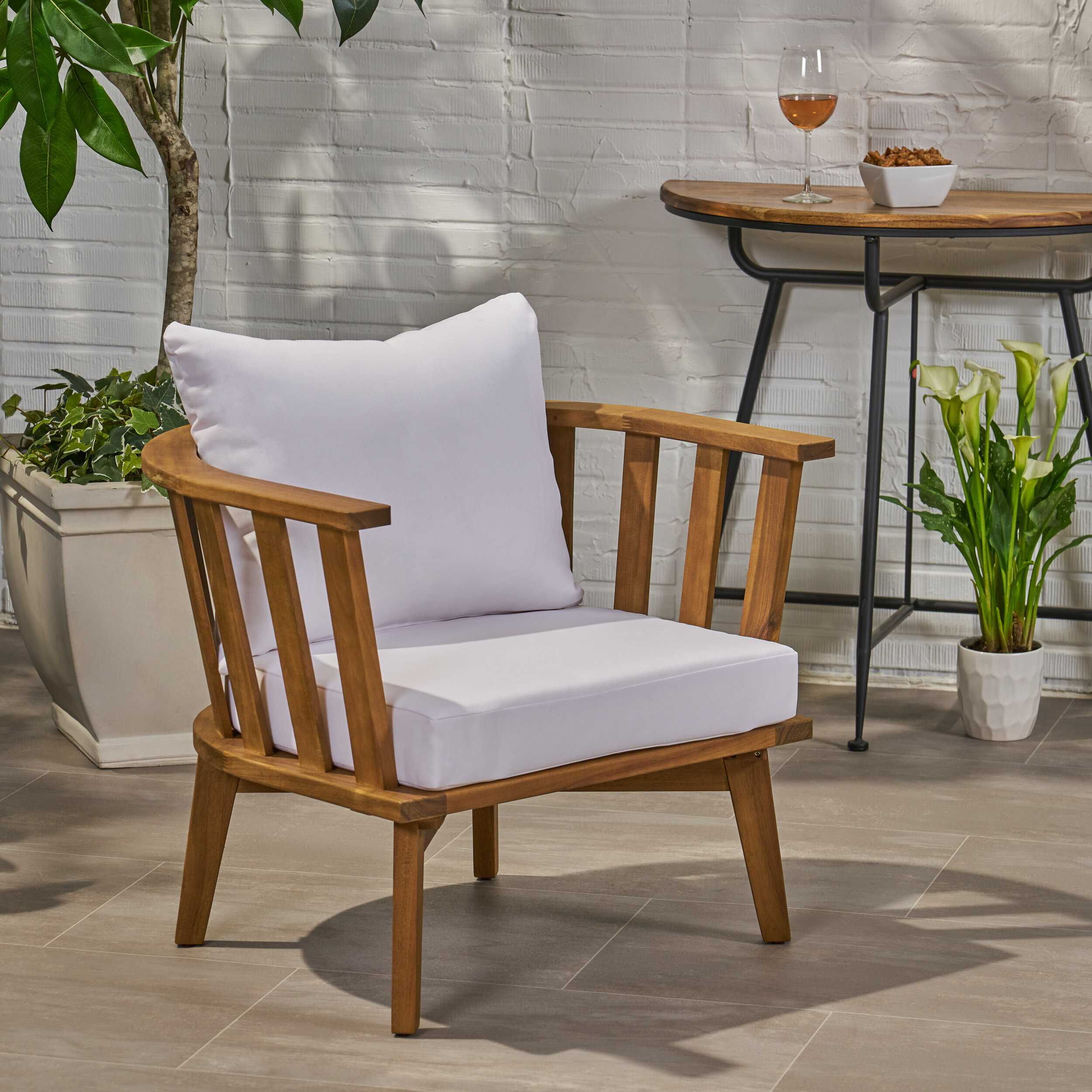 Rosecliff Heights Teague Outdoor Patio Chair With Cushions Reviews
