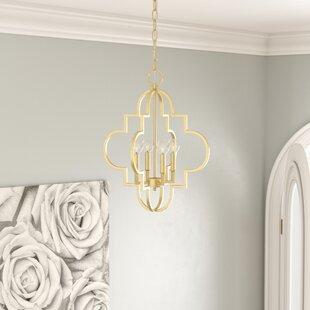 Reidar 4-Light Chandelier by Willa Arlo Interiors