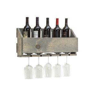 Millwood Pines Amaryllis 6 Bottle Wall Mounted Wine Rack
