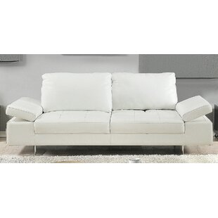 Gia Leather Loveseat