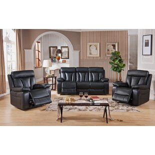 Muoi Reclining 3 Piece Living Room Set by Red Barrel Studio