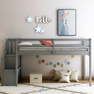 Camil Twin Low Loft Bed with Shelve by Isabelle amp Max