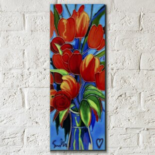 Hand Painted Cant Stop Loving You Poppy Wall Décor Tile
