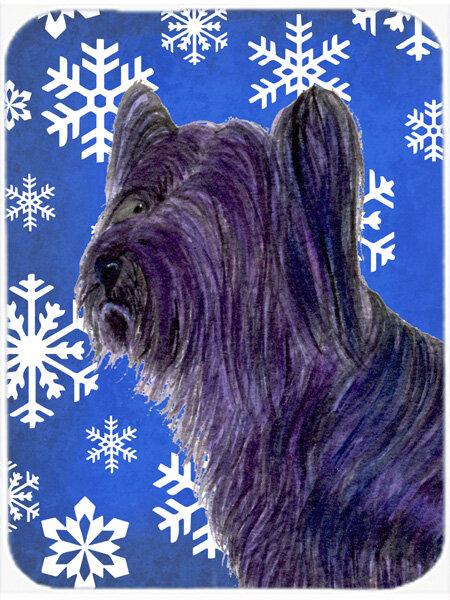 The Holiday Aisle Ashlynn Skye Terrier Glass Cutting Board Wayfair Ca