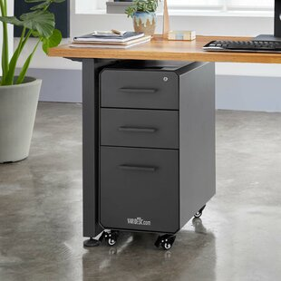 VARIDESK Slim 3-Drawer Vertical Filing Cabinet