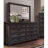 Ridout 9 Drawer Dresser with Mirror by Bloomsbury Market