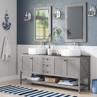 Order Nadler 72 Double Bathroom Vanity Set with Mirror ByBeachcrest Home