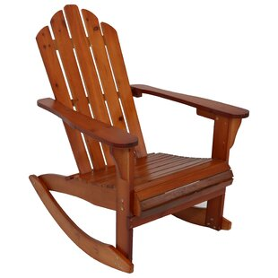 Millwood Pines Larissa Outdoor Solid Wood Rocking Adirondack Chair