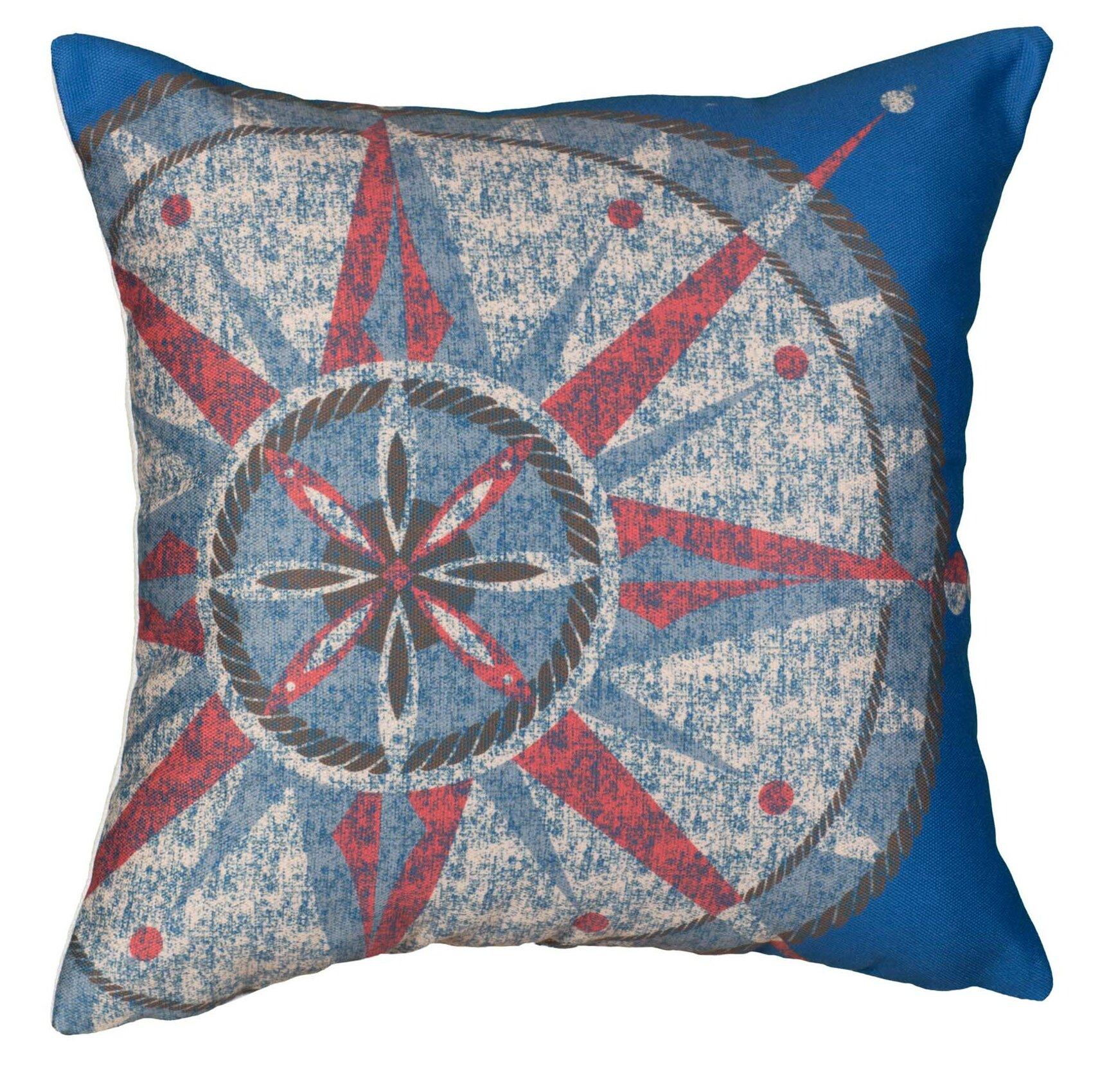 Breakwater Bay Bridgette Compass Cotton Throw Pillow Wayfair