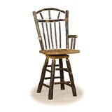 Wedemeyer Wagon Wheel 24 Swivel Bar Stool by Loon Peak®